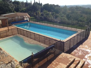 pool fence in portugal -brown