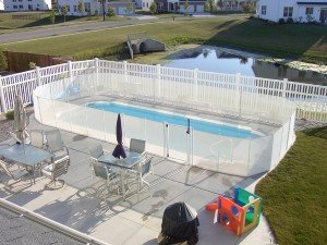 Pool Fences in White